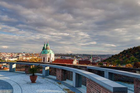 View from Garden of Paradise near Prague Castle in Czech Republic photo