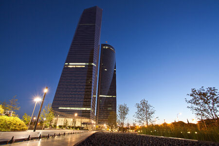 cuatro: Las Cuatro Torres financial center are the highest skyscrapers in Spain with a height of 250 meters