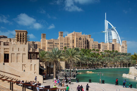 View of the Souk Madinat Jumeirah Madinat Jumeirah contain two hotels and clusters of 29 typical Arabic houses