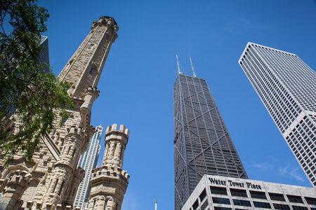 magnificent mile: CHICAGO - JUNE 7  John Hancock Center on June 7, 2013 in Chicago Chicago Editorial