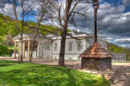ethnographical: Ethnographical Museum in the park on Petrin hill in Prague - HDR Photo Editorial