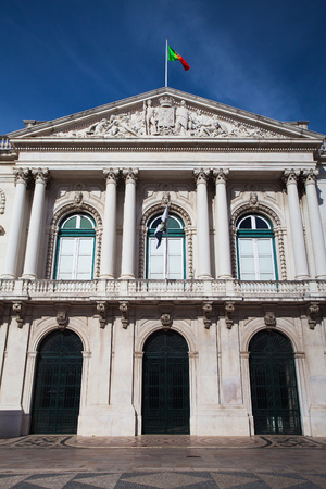 baixa: The historic City Hall building in Baixa district Editorial