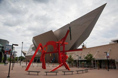 modern art: DENVER-COLORADO: July 21, 2013: Modern art and modern architecture in Denver, Colorado, USA . Editorial