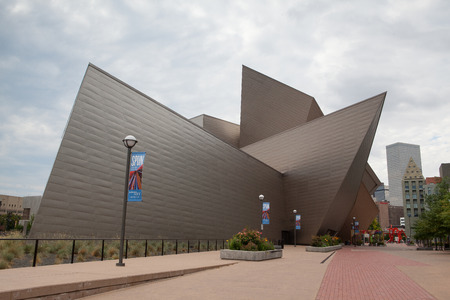 museums: DENVER-COLORADO: July 21, 2013: Modern art and modern architecture in Denver, Colorado, USA . Editorial