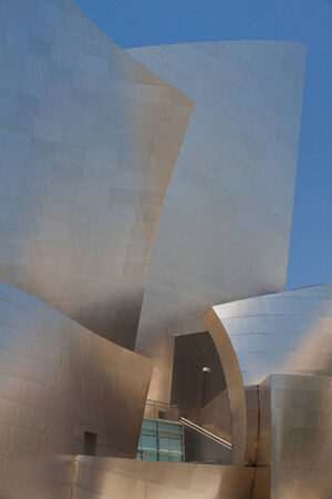 disney: Los Angeles, USA - July  2,2011: Walt Disney Concert Hall in Los Angeles.This building was designed by Frank Gehry and is a major component in the Los Angeles Music Center complex.