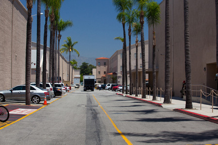 burbank: Los Angeles, USA -July 1,2011:Warner Brothers Studios in Burbank,Los Angeles. The historic 110-acre lot include 29 soundstages, plus a 20-acre backlot