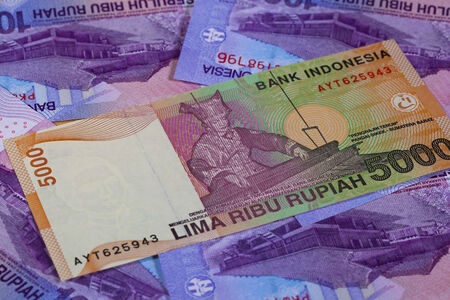 rupiah: Different rupiah banknotes from Indonesia