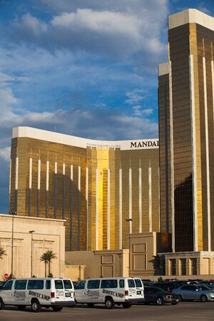 renowned: Las Vegas, USA - JULY 7 ,2011:Mandalay Bay in Las Vegas. Mandalay Bay Resort and Casino in Las Vegas offers unmatched luxury, fine dining, renowned entertainment, personal service, and gaming excitement Editorial