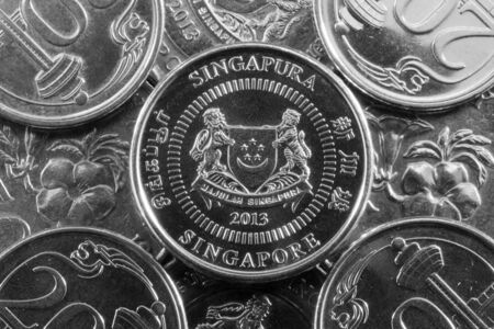 numismatic: Diverse monete da Singapore in Asia