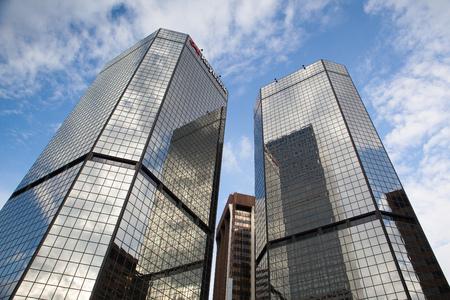 headquaters: Denver,USA: July 21, 2013: Modern skyscrapers KeyBank in Denver.KeyBank  is a American regional bank.
