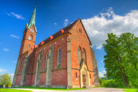 abbeys: Renovated church in Zalesni Lhota, Czech Republic. HDR Image