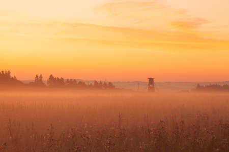 hunters tower: Hunters tower in the morning mist