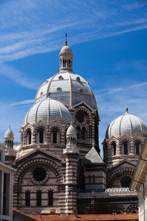 cathedrale: Byzantine Cathedrale La Major in Marseille, France Stock Photo