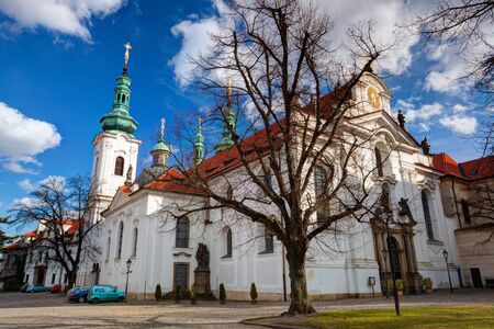 Prague,Czech Republic - March 4,2015: Prague Strahov Monastery.Strahov Monastery is a Premonstratensian abbey founded in 1143 by Bishop Jindrich Zdik,Bishop John of Prague and Duke Vladislav II. It is located in Strahov, Prague, Czech Republic