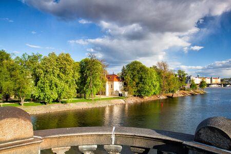 legion: View from Legion Bridge on Strelecky Island in Prague.