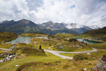 ski resort: Summer landscape  from Obertauern ski resort, Salzburg Land,Austria Stock Photo