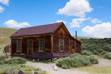 ghost town: Old building in Bodie, an original ghost town from the late 1800s Stock Photo