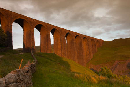 yorkshire dales: Old Arten Gill Viaduct in Yorkshire Dales National Park, Great Britain