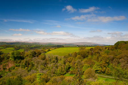View of the landscape from Castle Drogo, Great Britain