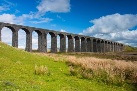 great britain: Famous Ribblehead Viaduct in Yorkshire Dales National Park,Great Britain