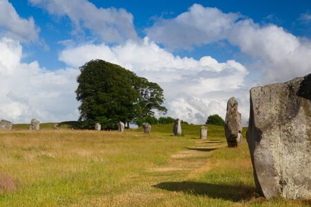 stone circle: Stone circle in Avebury. It is the largest stone circle in the world. Great Britain Stock Photo