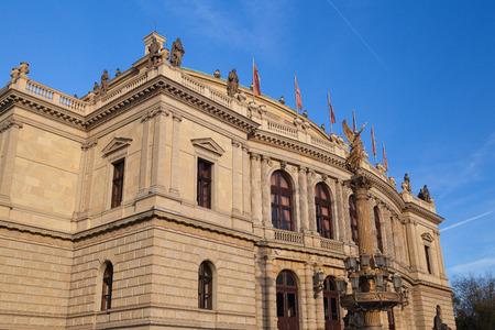neo classical: Rudolfinum Concert Hall. Rudolfinum is a music auditorium and home of the Czech Philharmonic Orchestra in Prague