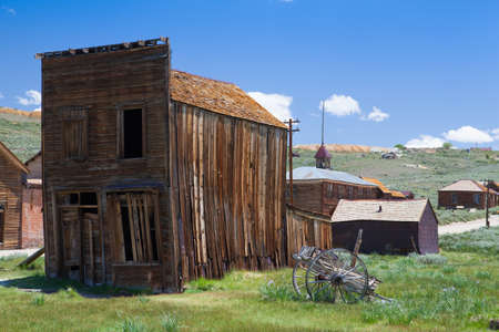 ghost town: Old buildings in Bodie, an original ghost town from the late 1800s
