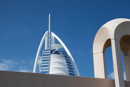 classed: Dubai,United Arab Emirates - February 3,2012:Burj Al Arab hotel - hotel is classed as one of the most luxurious in the world, built on an artificial island in front of Jumeirah beach. Editorial