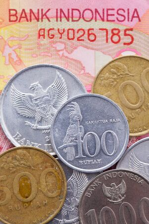 rupiah: Different banknote and coins of  Rupiah  of Indonesia