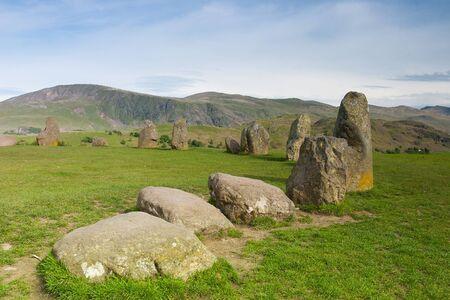Castlerigg Stones Kreis, berühmt mystischer Ort in Keswick, Großbritannien