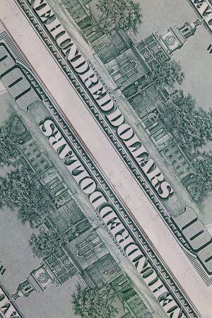 profiting: Detail of US dollar banknotes