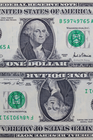 numismatic: Detail of US dollar banknotes