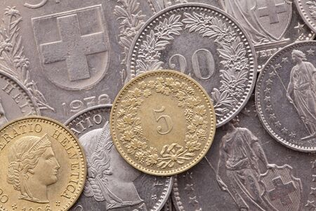 franc: Different coins of Swiss Franc