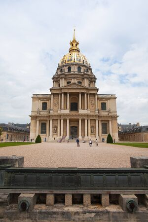 bonaparte: Paris,France - June 21,2012: Chapel of Saint Louis des Invalides . There is a tomb of Napoleon Bonaparte. National Residence of Invalids - museum relating to military history of France. Editorial