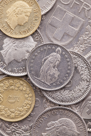 Different coins of Swiss Franc Reklamní fotografie