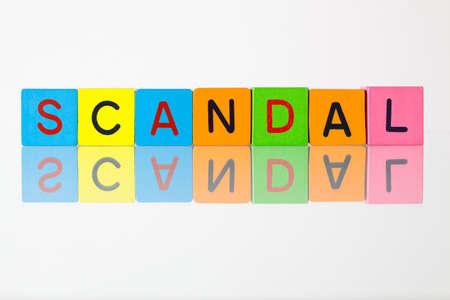 scandal: Scandal - an inscription from childrens wooden blocks
