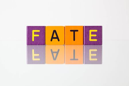 fate: Fate - an inscription from childrens wooden blocks