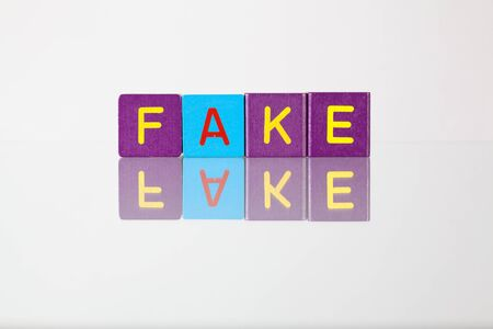 hoax: Fake - an inscription from childrens wooden blocks
