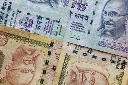 profiting: Detail of Indian Rupee banknotes