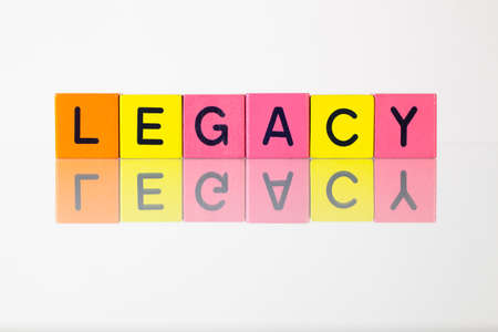 legacy: Legacy - an inscription from childrens wooden blocks
