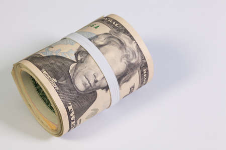 law of panama: Bribery - The roll of dollar bills with plastic band over the eyes