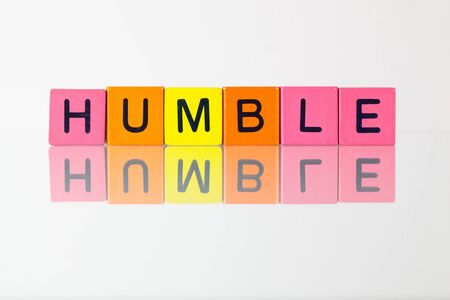 humbled: Humble - an inscription from childrens wooden blocks
