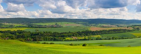 Panorama landscape - Amazing view from golf course to the valley