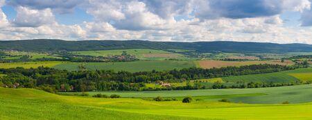 Panorama Panorama - Incredibile vista dal campo da golf a valle Archivio Fotografico