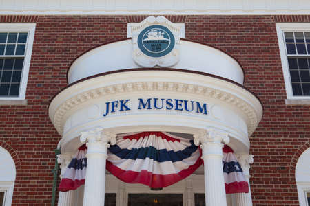 BOSTON,MASSACHUSETTS,USA - JULY 12,2016:  The John F. Kennedy Hyannis Museum is a historical museum located at 397 Main Street Hyannis, Massachusetts.