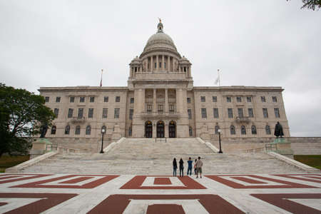 PROVIDENCE, RHODE ISLAND, USA - JULY 9,2016: The Rhode Island State House is the capitol of the U.S. state of Rhode Island.It  was constructed in 1904 with Georgian style.It is located on the border of the Downtown and Smith Hill sections of the state cap