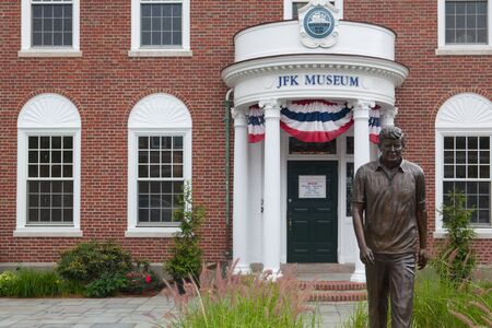 fitzgerald: BOSTON,MASSACHUSETTS,USA - JULY 12,2016:  The John F. Kennedy Hyannis Museum is a historical museum located at 397 Main Street Hyannis, Massachusetts.