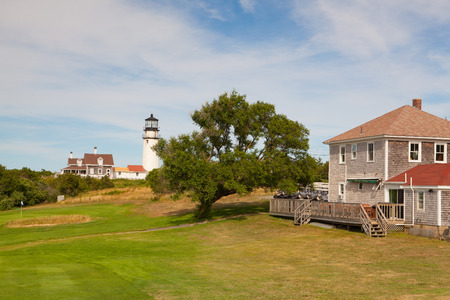 TRURO, MASSACHUSETTS,USA: The Highland Light near the golf course,previously known as Cape Cod Light) is an active lighthouse on the Cape Cod National Seashore in North Truro, Massachusetts.
