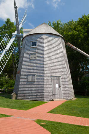 judah: The Judah Baker Windmill. It is an 18th century windmill in South Yarmouth, Massachusetts, USA Stock Photo