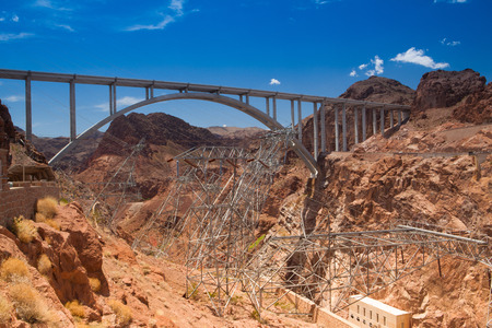 hoover dam: Colorado River Bridge - Bypass for the Hoover Dam, Arizona, USA Stock Photo